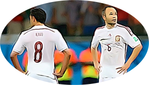 Xavi and Iniesta dejected pic for Blog